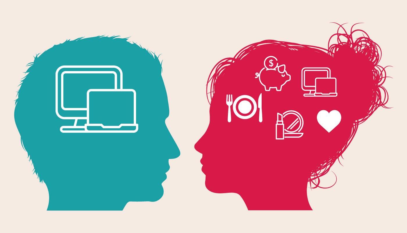 男女で脳の構造が異なる。女性が複数のことを一度に考えられるのに対し、男性は一つのことしか考えられない